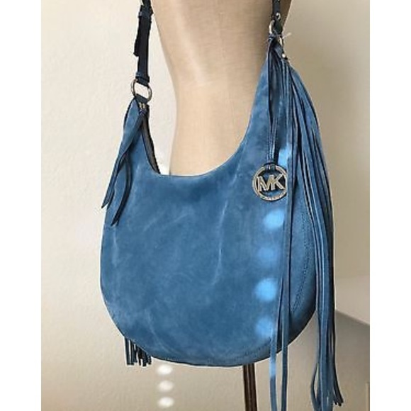 fd0b4f0116db Michael Kors Rhea Large Slouchy Shoulder Bag-Denim